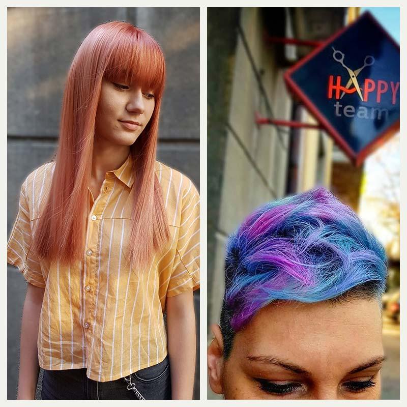 Bojenje kose u pastelne boje Happyteam Beograd