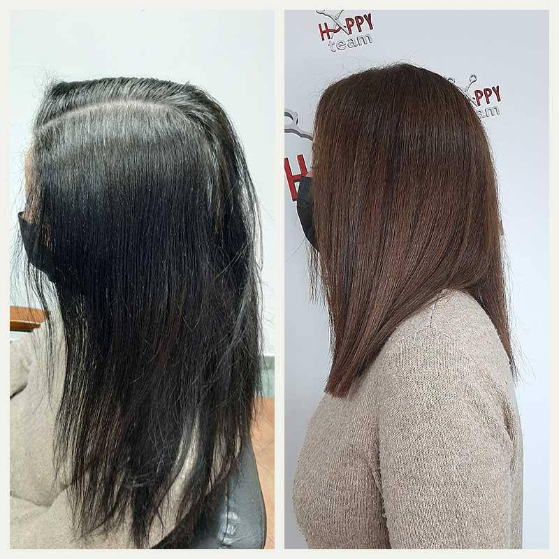 skidanje farbe sa kose